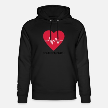 Bournemouth Heart Bournemouth - Uniseks bio hoodie