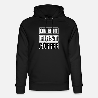 Geek drink coffee lover latte bean coffee everyday food - Unisex Bio Hoodie