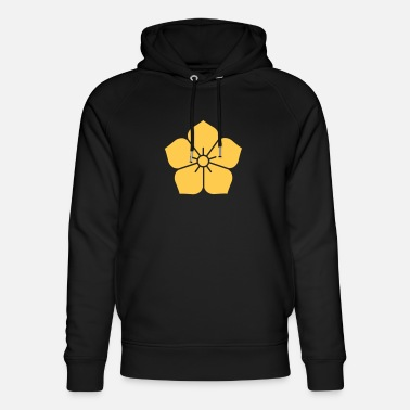 Abstraction fleur - Sweat à capuche bio unisexe