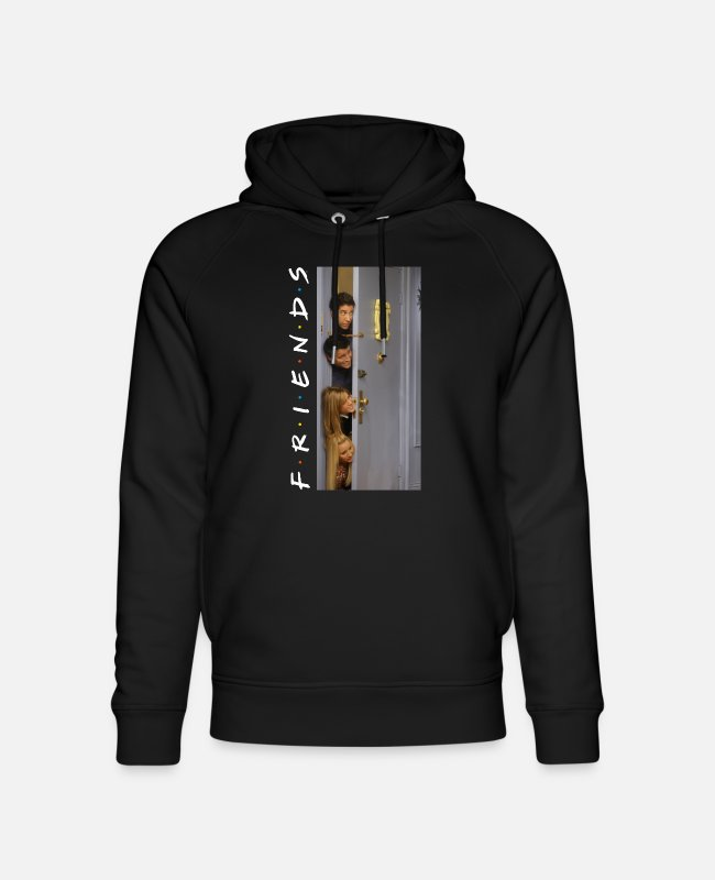 Friends Tv Series Sweatshirts & hættetrøjer - Friends Floating Heads - Unisex hoodie af økologisk bomuld sort