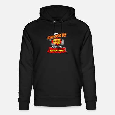 Funny Insurance Agent Superhero gift funny insurance agent - Unisex Organic Hoodie