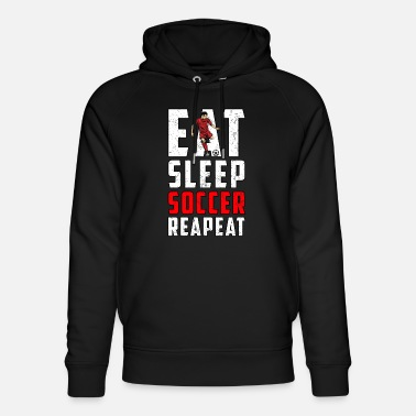 Eating Sleeping Football Goal - Unisex Organic Hoodie