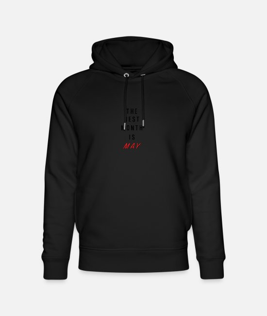 Father's Day Hoodies & Sweatshirts - The best month is May birthday - Unisex Organic Hoodie black