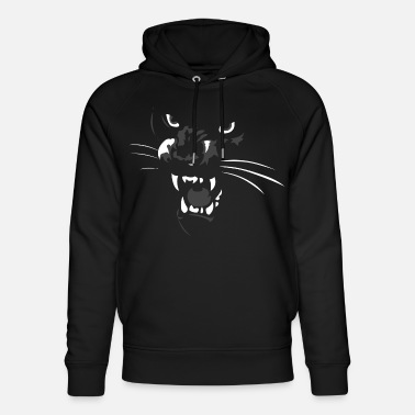 Black Panther cool beautiful mega - Unisex Organic Hoodie