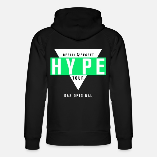 Officialbrands Pullover & Hoodies - Late Night Berlin Secret Hype Tour - Unisex Bio Hoodie Schwarz