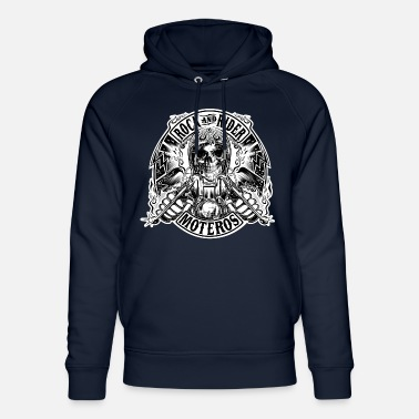 Rock And Rider Rock And Rider Moteros Skull BW - Sudadera con capucha ecológica unisex