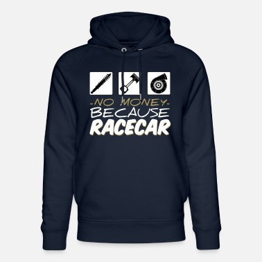 No money because racecar - Unisex Bio Hoodie