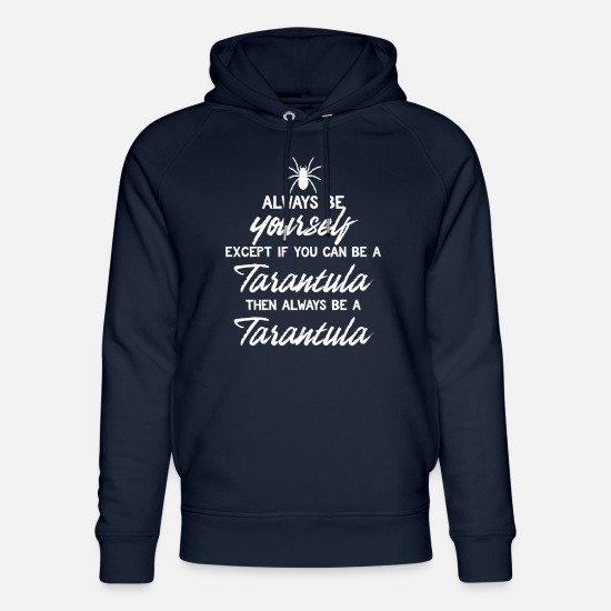 Spin Hoodies & Sweatshirts - Spider - Spiders - Spider Owner - Be Yourself - Unisex Organic Hoodie navy