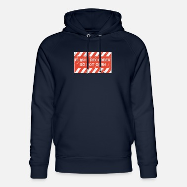 Flight Data Recorder FDR and CVR - Flight Recorder - Do Not Open - Unisex Organic Hoodie