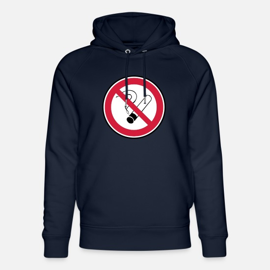 No Hoodies & Sweatshirts - No smoking - Unisex Organic Hoodie navy