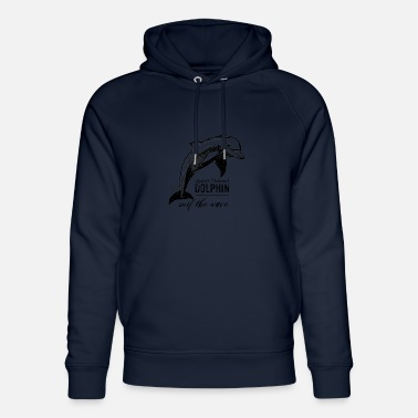 Spirit Spirit Spirit - Power animal - Dolphin noir - Sweat à capuche bio unisexe