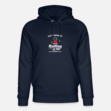 Wool Day without knitting - sewing - Unisex Organic Hoodie