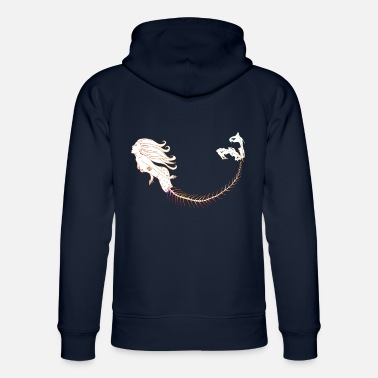 Mermaid Orange Outline - Unisex Bio Hoodie
