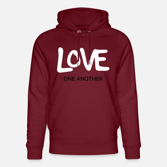 Love Hoodies & Sweatshirts - Love each other - Unisex Organic Hoodie burgundy