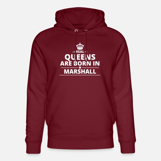 Love Hoodies & Sweatshirts - LOVE GIFT queensborn in MARSHALL ISLANDS - Unisex Organic Hoodie burgundy