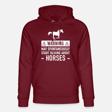 May Funny Horse Gift Idea - Unisex Organic Hoodie