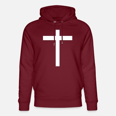 Cross sign symbol clothing Christian - Unisex Organic Hoodie