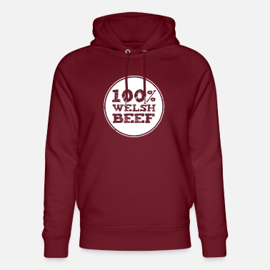 Welsh Rugby Wales rugby - 100% Welsh Beef - Unisex Organic Hoodie