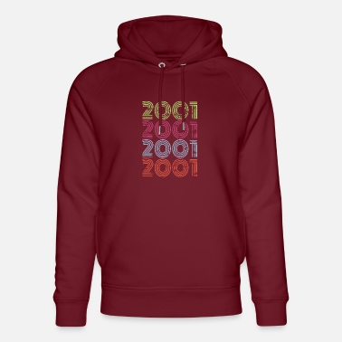 2001Year Of Birth, 20th Birthday Present - Unisex Organic Hoodie