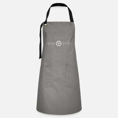 Road Cyclist in the forest with MTB does sport on the mountain - Artisan Apron