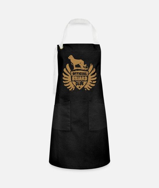 Brown Aprons - OFFICIAL BRIARD CLUB - Artisan Apron black/white