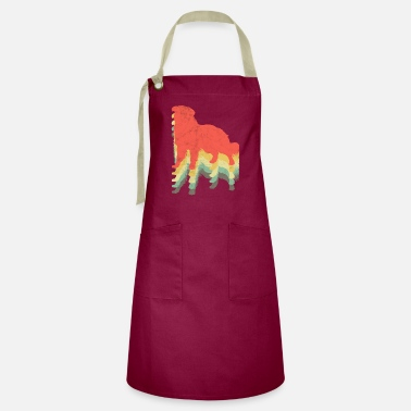 Herding Dog Do Khyi vintage graphic Tibetan dog gift - Artisan Apron
