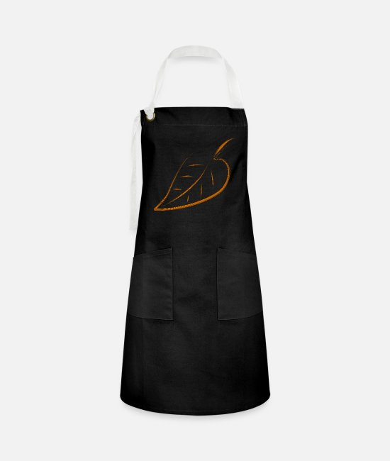 Nature Aprons - leaf - Artisan Apron black/white