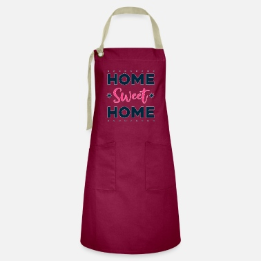Big Quote - home sweet home - bright - Artisan Apron