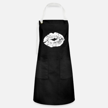 Kiss Kiss mouth - kissing - kiss - kiss - Artisan Apron