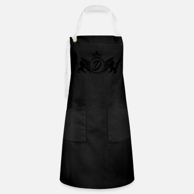 First Name letter D coat of arms - Artisan Apron