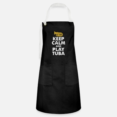 Horns Tuba Marching Band Player Musical Instrument Funny - Artisan Apron