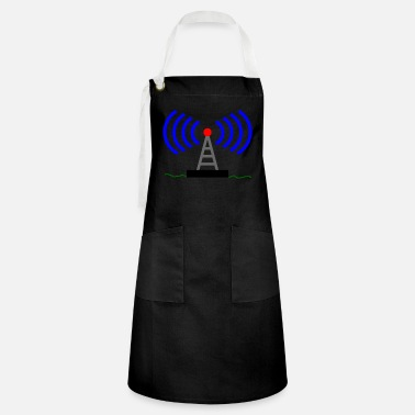 Radio Tower Radio radio tower waves communication - Artisan Apron