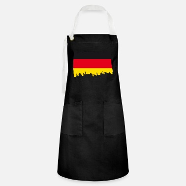 Schland Germany National Flag - brush - Artisan Apron