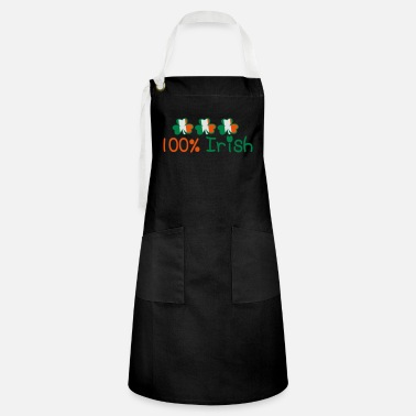Marry Underwear ♥ټ☘Kiss Me I'm 100% Irish-Irish Rule☘ټ♥ - Artisan Apron