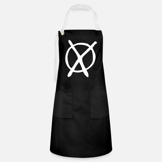 Federal Republic Of Germany Aprons - Election party cross - Artisan Apron black/white