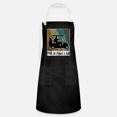 Mobile This is how i roll - Golfcart Retro Golfer Golf - Artisan Apron