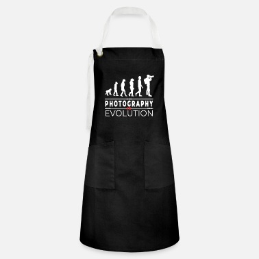 Darwin Photography is evolution - Message Humor Parodie - Artisan Apron
