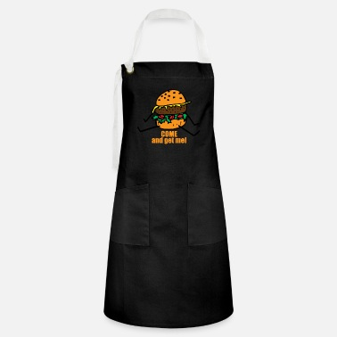 Man Burger man funny saying - Artisan Apron