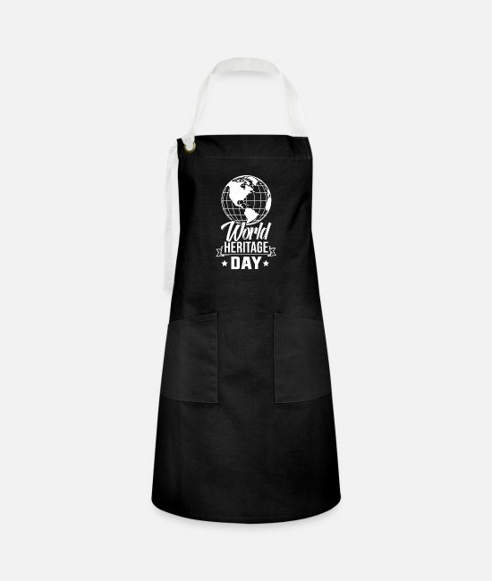Family Crest Aprons - Welterbetag Welterbetag Welterbetag Welterbetag - Artisan Apron black/white