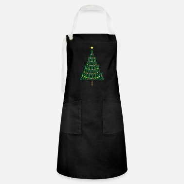 Haircutter Barber Christmas Tree Haircutter Stylist Gift - Artisan Apron