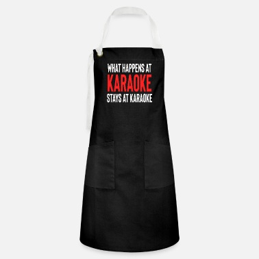 Christmas What Happens At Karaoke Stays At Karaoke - Artisan Apron