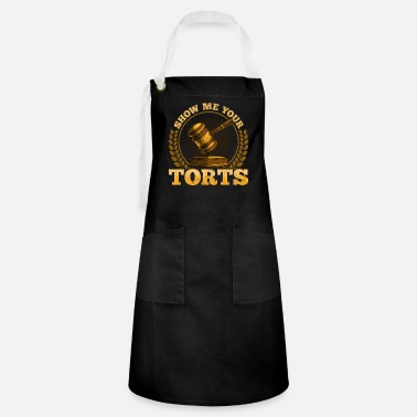 Hilarious Funny Show Me Your Torts Lawyer Pun Attorney Law - Artisan Apron