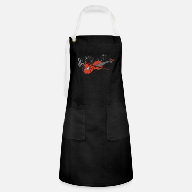 Fiddlestick Violin violin player lover gift idea motif - Artisan Apron