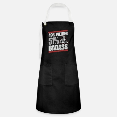 Mechanic Badass Welder Construction - Artisan Apron