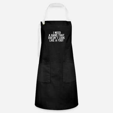 Vegas POKER-I need a hand that doesn't look like a foot - Artisan Apron