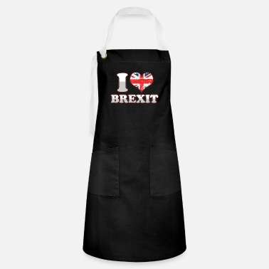 Union Jack Anti EU Brexit Supporter Great Britain UK United - Artisan Apron