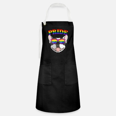 Culture Gay Pride Frenchbull Frenchie Dog with LGBT - Artisan Apron