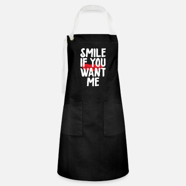 Party saying smile if you want me single fli - Artisan Apron