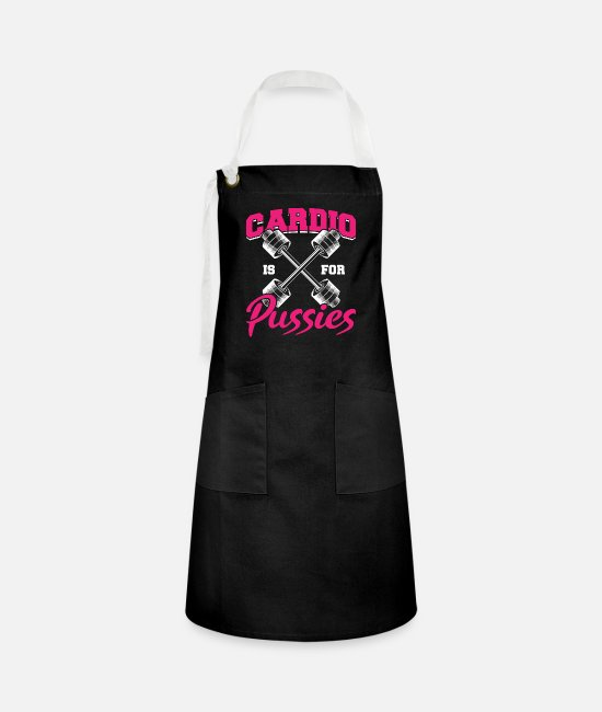 Bless You Aprons - Muscle Building Protein Sport Bodybuilding Gift - Artisan Apron black/white