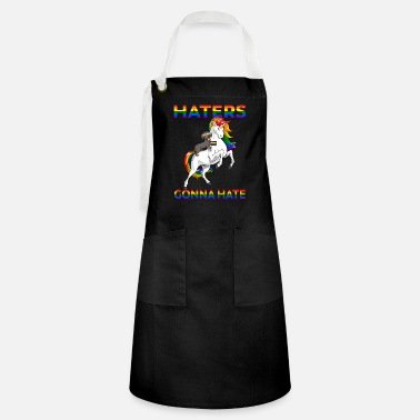 Rallying LGBT Gay Pride Dachshund Dog Riding Unicorn - Artisan Apron